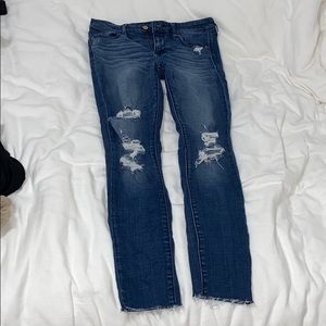 abercrombie ripped skinny jeans